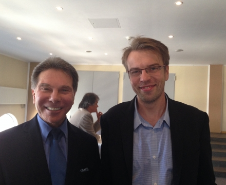 Jacek with profesor Robert Cialdini Author of 10 books